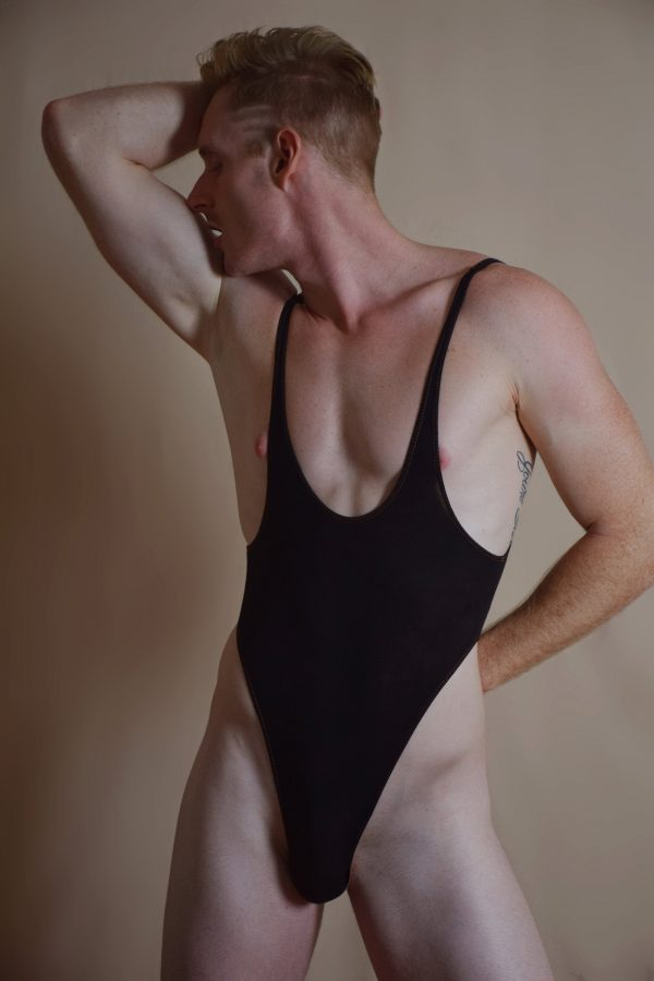 A - Black sexy bodysuit / leotard for guys
