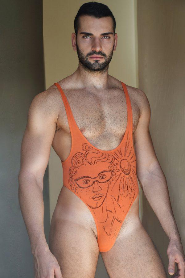 A - The Mystical Jester bodysuit - hand drawn