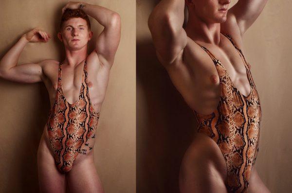 A - Coral Snake Leotard / wrestling singlet / thong for guys