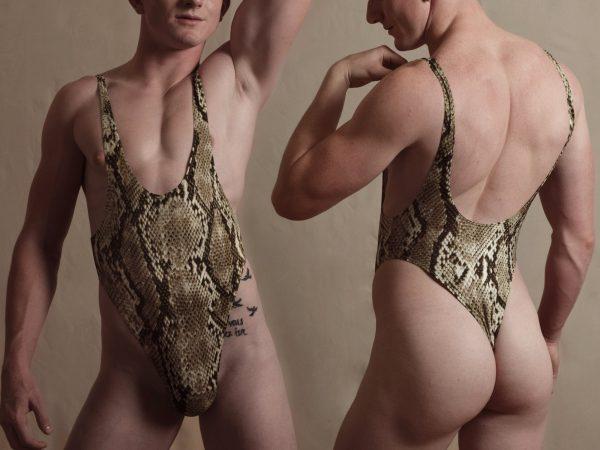 A - Python leotard / wrestling singlet / thong for guys
