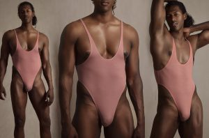 A - Leotard / wrestling singlet / thong for guys in nude color